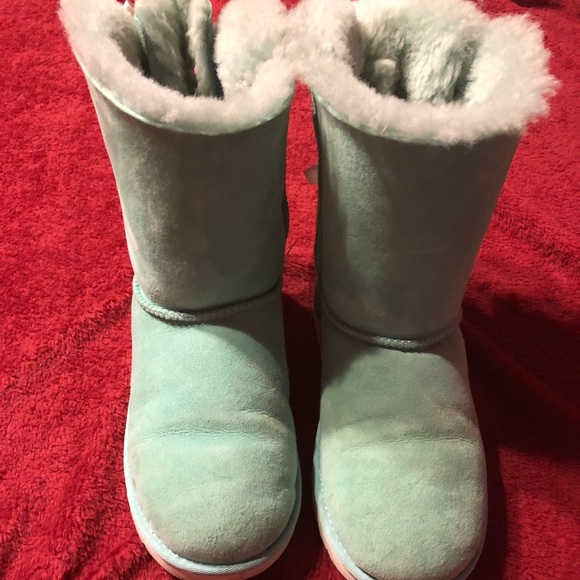 882db26d290 Ugg Bailey Bow Tiffany Blue Boots